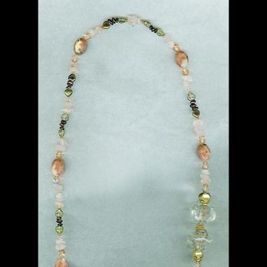 Custom Made Solstice Gem And Glass Necklace