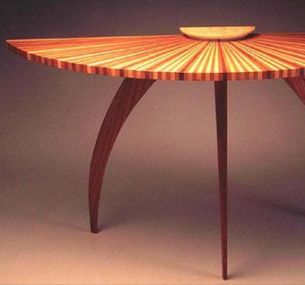 Custom Made Sunburst Hall Table