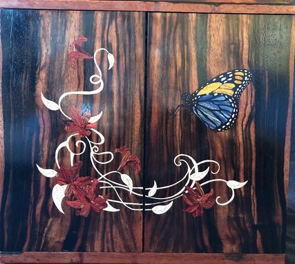 Custom Made Butterfly Jewelry Or Keepsake Box