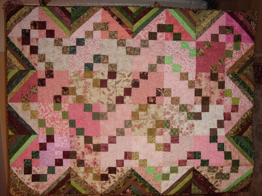 Custom Made Garden Theme Throw-Size Quilt