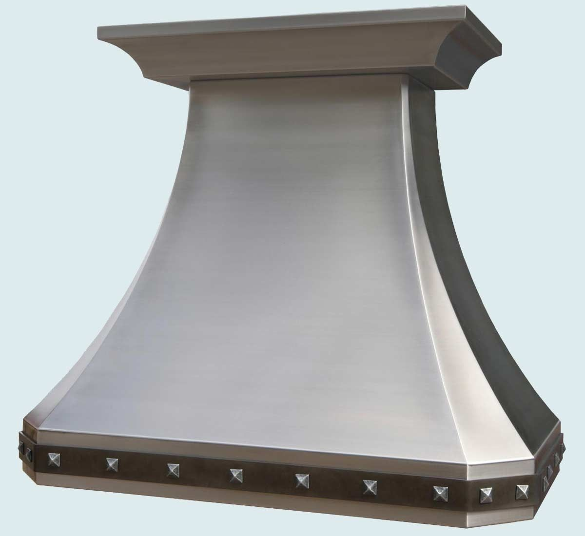 Hand Crafted Stainless Range Hood With Steel Strap Amp Zinc
