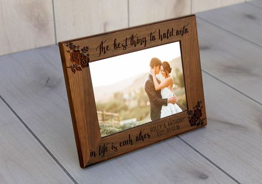 Custom Made Custom Engraved Picture Frames -- Pf-Wal-Holly Anthony