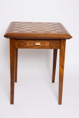 Custom Made Maple & Walnut Chess Table