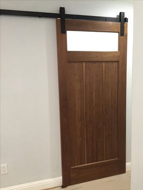Custom Made Walnut Barn Door