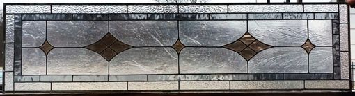 "Custom Made Stained Glass Window - ""Grey & Bronze"" (W-81)"
