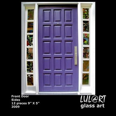 "Custom Made Front Door Sides – 12 Pieces Of 7"" X 12"" Each - 2010"