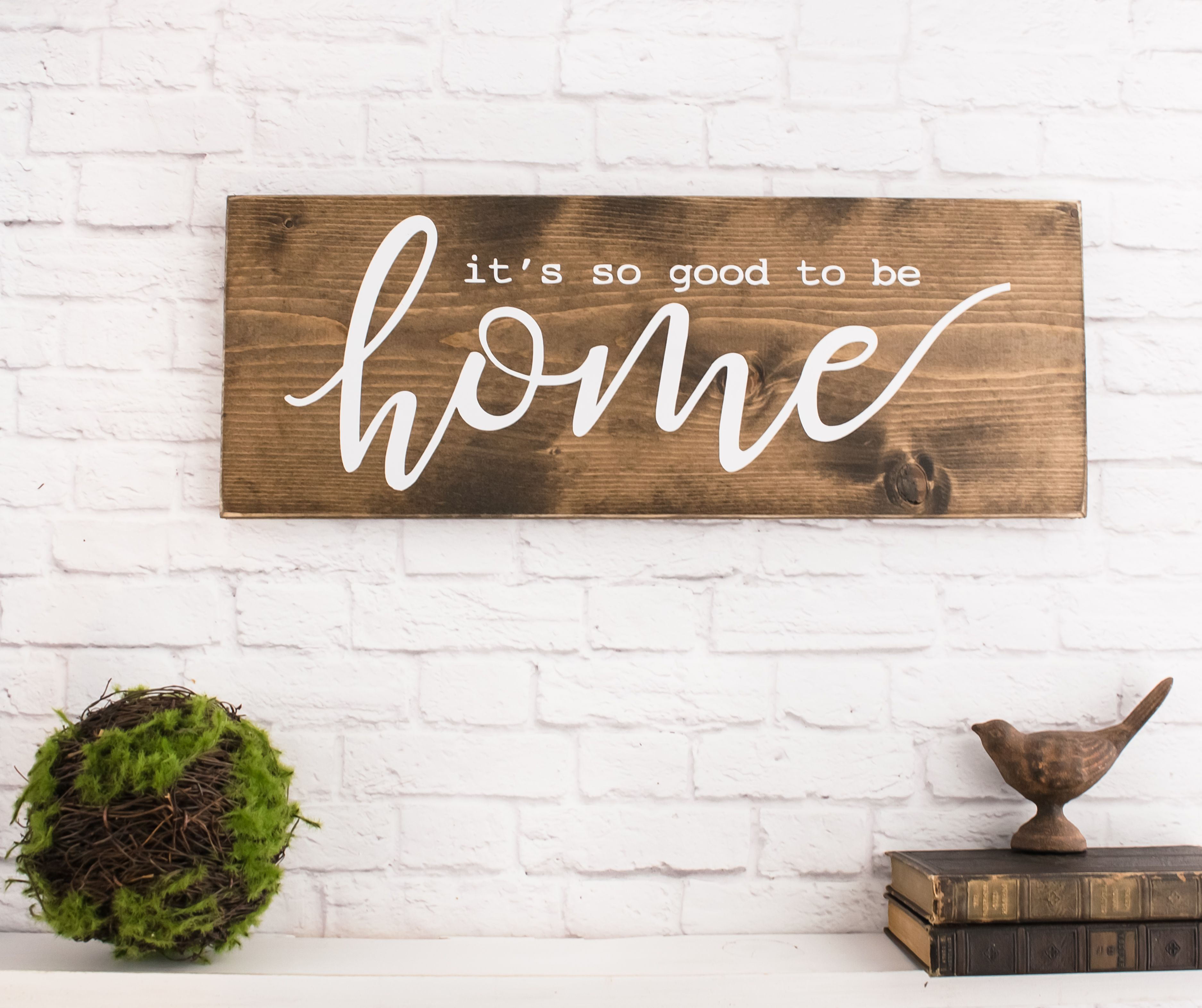 Buy A Hand Made So Good To Be Home Wood Sign Saying