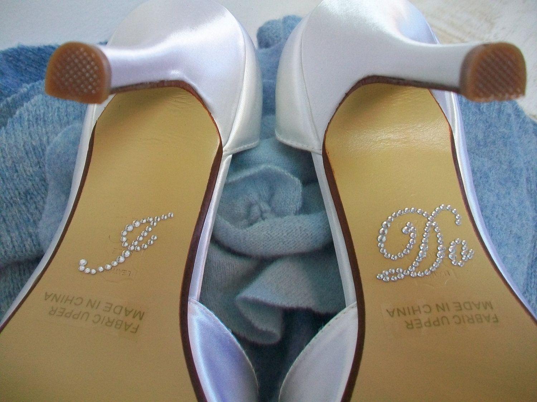Hand Made Wedding Shoes I Do Crystal Shoe Stickers By Parisxox Arbie Goodfellow Custommade Com