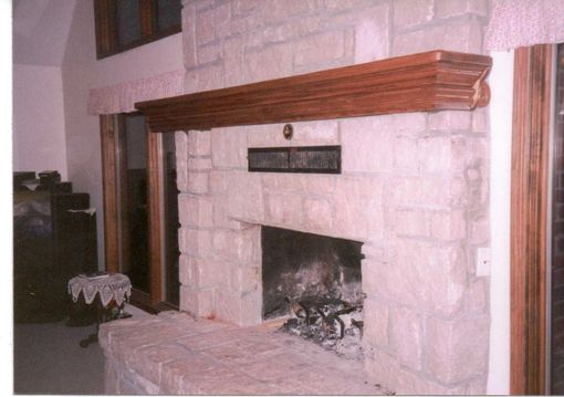 Custom Made Long Oak Mantel