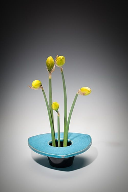 Hand Crafted Ikebana Flower Vase Horizon By Centerpoint Studios