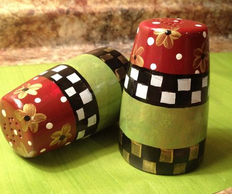 Custom Made Hand Painted Salt And Pepper Set