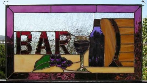 Custom Made Bar Sign With Wine Barrel, Made To Order