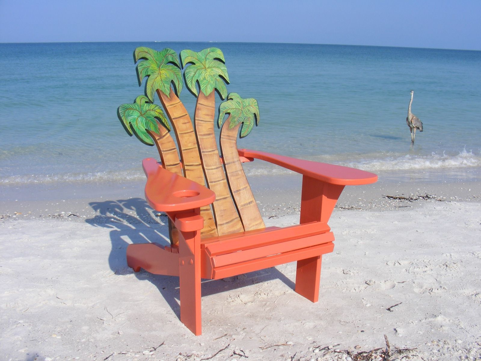 Hand Crafted Adirondack Chair Palms Design By Island Time