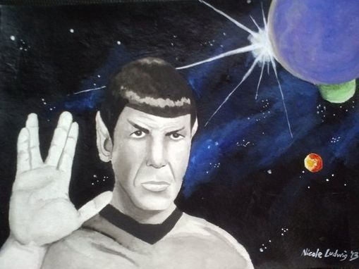 Custom Made Spock Painting