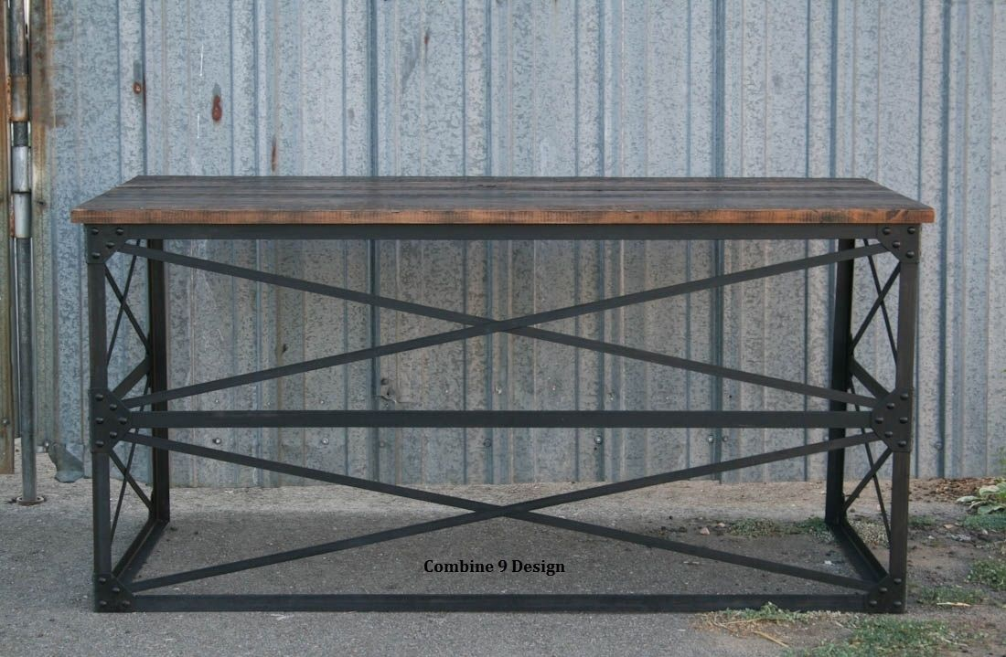 Buy A Hand Made Modern Industrial Desk. (Vintage Table