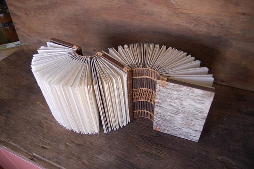 Custom Made Dos-À-Dos - Double Journal Wood Book  Birch Bark Unique Gift