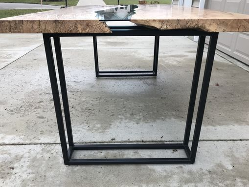 Custom Made Maple River Glass Dining Table