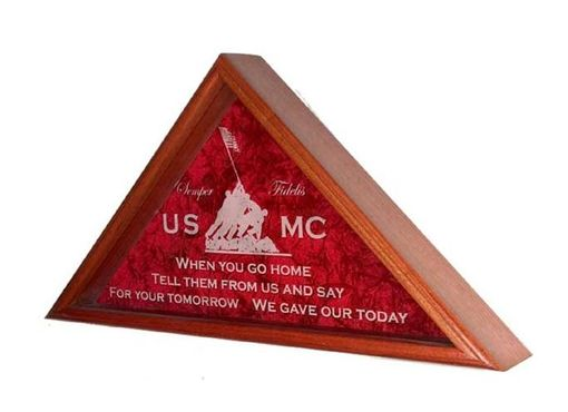 Custom Made Flag Case - Flag Display Case Shadow Box