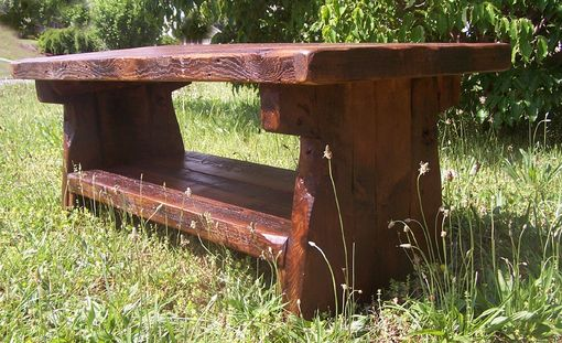 Custom Made Heart Pine Rustic Coffee Table