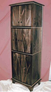 Custom Made Walnut Liquor Cabinet