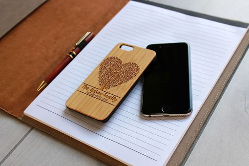 Custom Made Custom Engraved Wooden Iphone 6 Case --Ip6-Bam-Mason Heart Tree