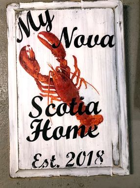 Custom Made Custom Designed Beach Or Lake House Sign