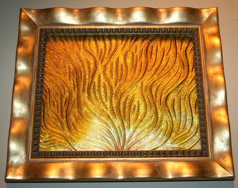 "Custom Made Cast Crystal Wall Piece - Abstract ""Sunrise"""