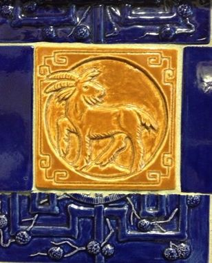 Custom Made Decorative Chinese Zodiac Animal Tiles For Fireplace Surround