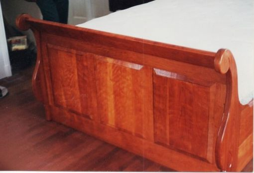 Custom Made Curly Cherry Sleigh Bed