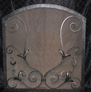 Custom Made Iron Fire Screen