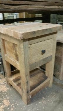 Custom Made Reclaimed Night Stand Or End Table