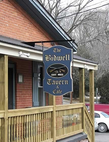 Handmade Custom Carved Sign: Bidwell Tavern by Signs Of All