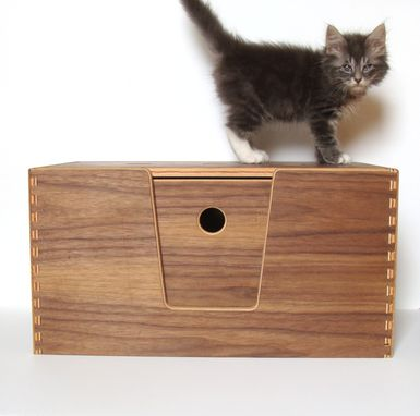 Custom Made Walnut Pet Carrier And Bed