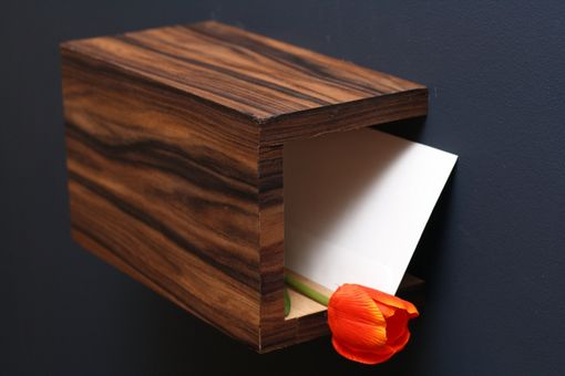 Custom Made Floating Shelf/Mail Cubby In Rosewood