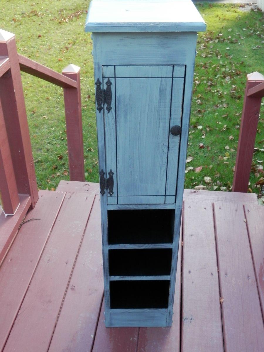 Custom Made Tall Slender Storage Cabinet