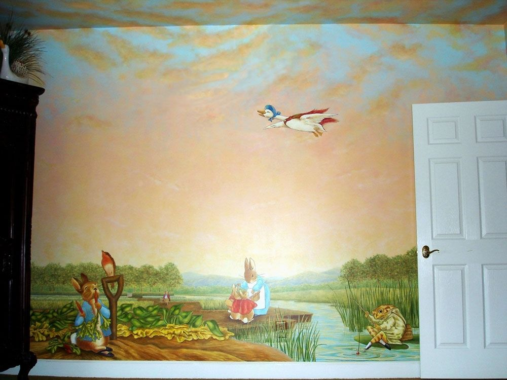 Handmade Peter Rabbit Mural Inspired By Beatrix Potter By Visionary ...