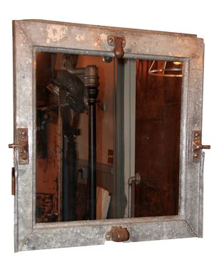 Custom Made Reclaimed Industrial Mirror