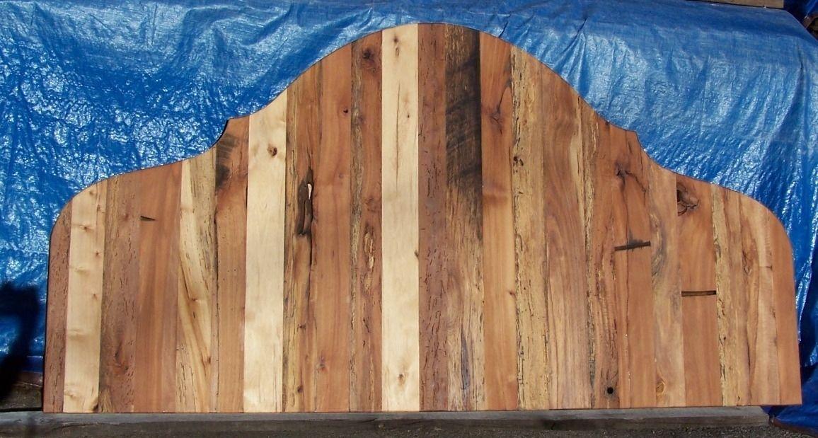 Custom Made French Country Reclaimed Wood Handmade Headboard