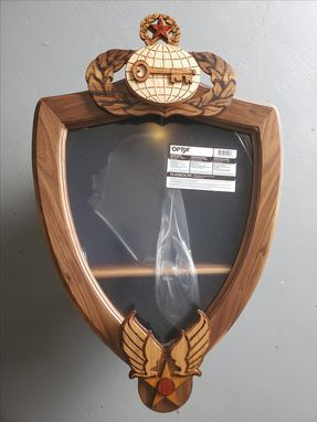 Custom Made Air Force Hap Arnold Wings Shadow Box