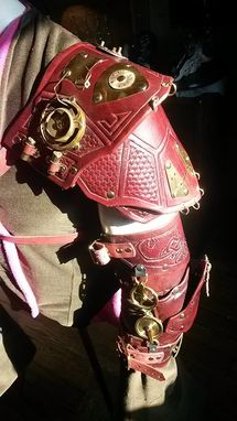Custom Made Steampunk Shoulder Armor With And Elbow Octopus