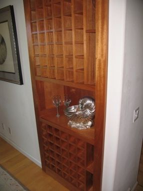 Custom Made Hidden Storage Wine Rack