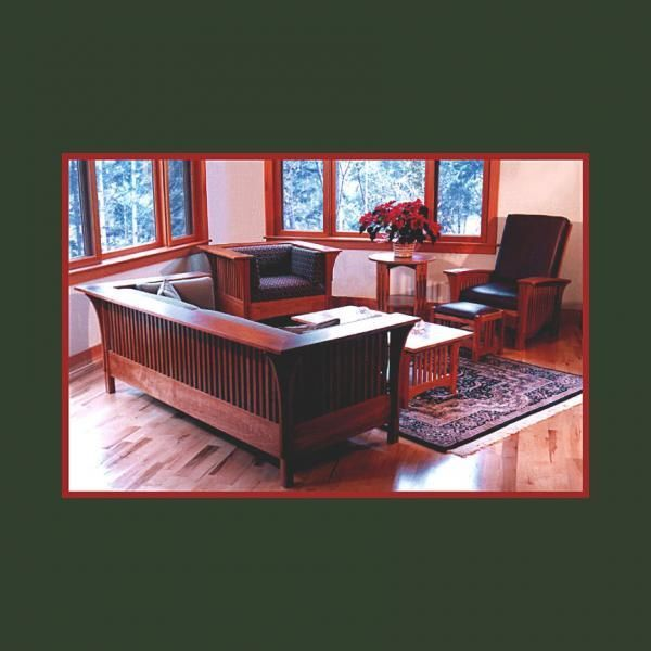 Custom Made Stickley Style Living Room Set By Randy