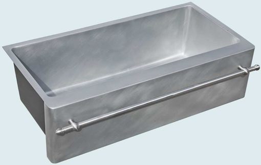 Custom Made Zinc Sink With Stainless Towel Bar