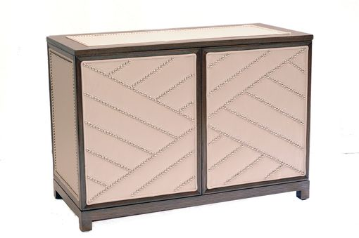Custom Made #2081 Leather Upholstered Chest