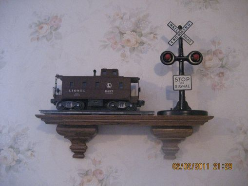 Custom Made Old Caboose And Signal On New Shelf