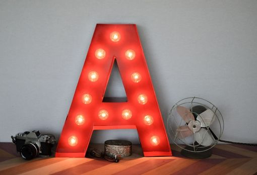 Custom Made Vintage Inspired Marquee Light- Letter A