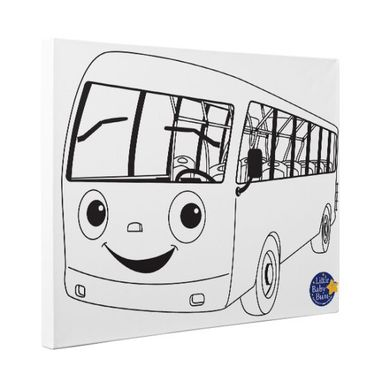 Custom Made Little Baby Bum Bus Kids Room Coloring Canvas Decor
