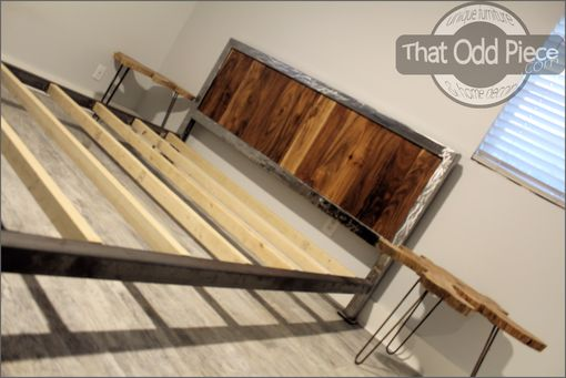 Custom Made Reclaimed Wood & Steel Bed Frame Headboard Built To Order!