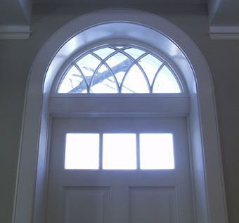 Custom Made Arched-Top Front Entry Door