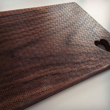 Custom Made Black Walnut Laser Engraved Cutting Board